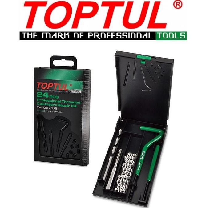 Toptul 24PCS Professional Threaded Coil Insert Repair Kit M6X1.0,M8X1.25,M10x1.5