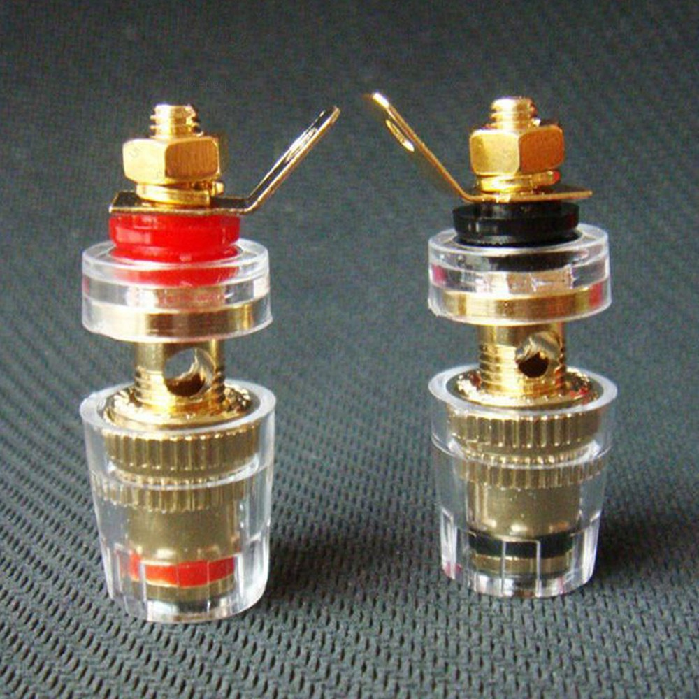 8Pcs 4mm Gold Plated Amplifier Speaker #S Terminal Binding Post Banana Plug Jack