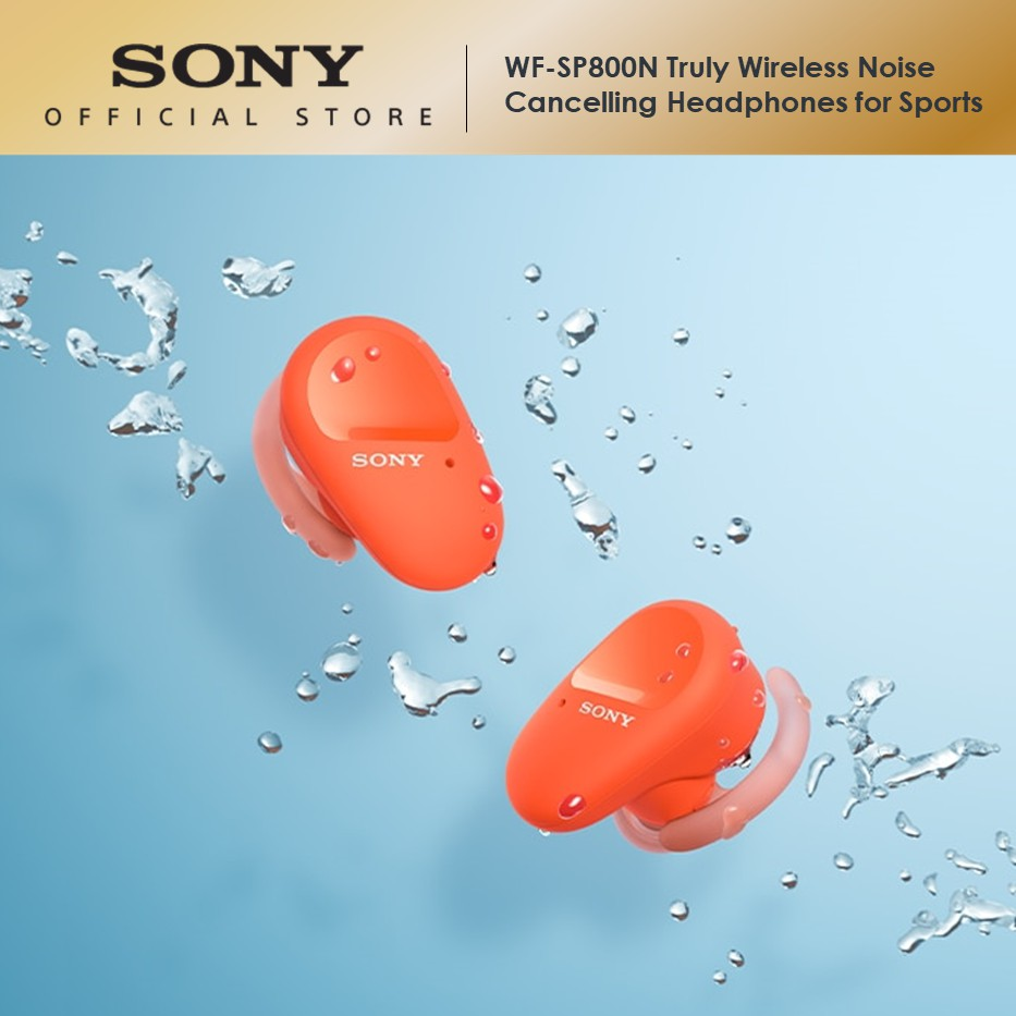 Sony WF-SP800N Truly Wireless Noise Cancelling Headphones for Sport