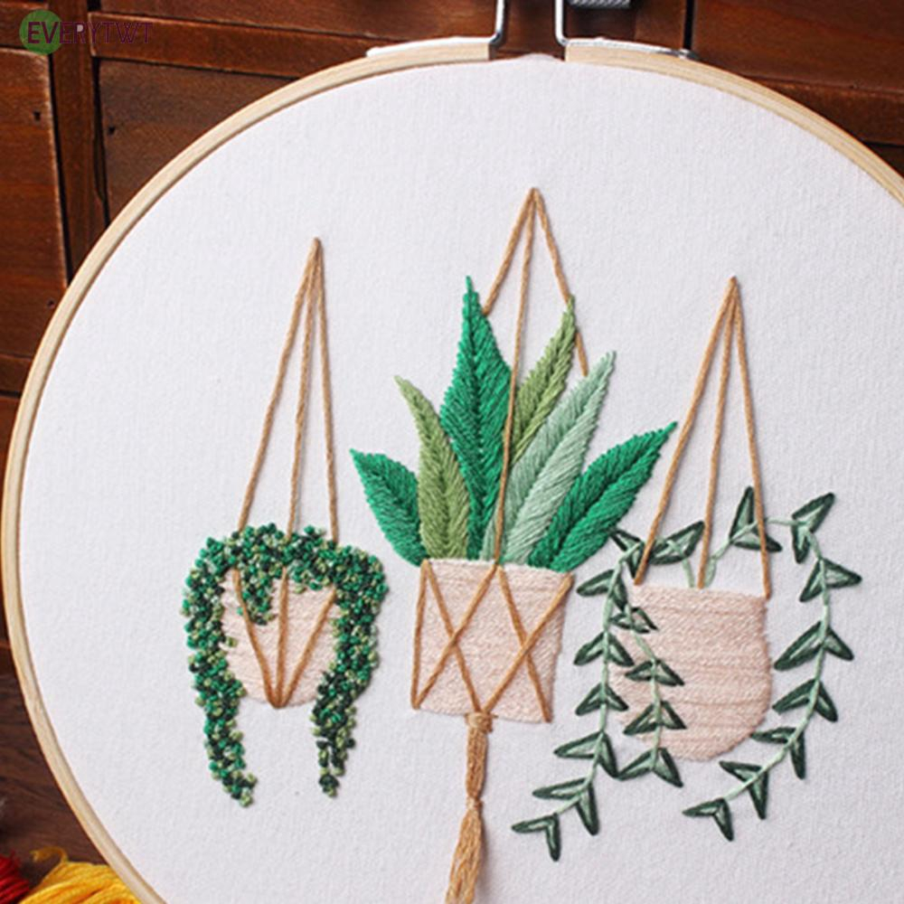 20x20cm Cross Stitch DIY Needlework Kit Embroidery Starter For Beginner 2020