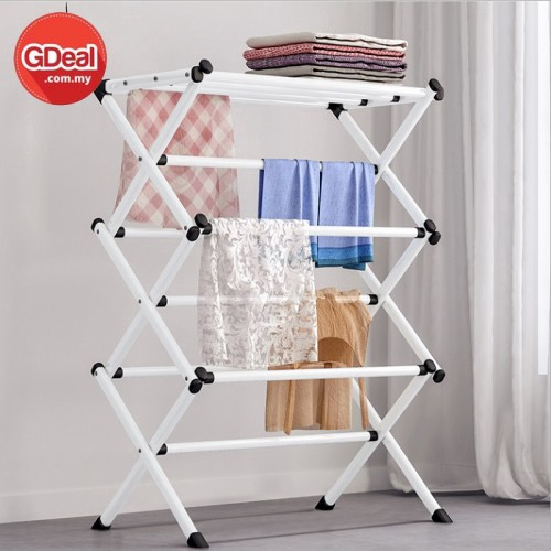 GDeal Stainless Steel Cloth Hanger Towel Rack Space Saving Living Room