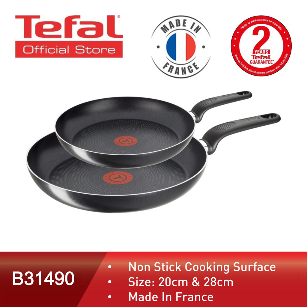 c57d263151d Tefal Cookware Only Cook Frypan (20cm + 28cm) B31490   Shopee Malaysia