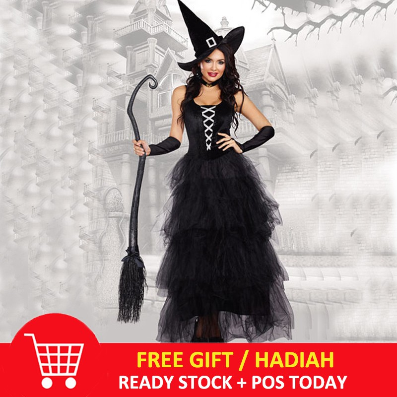 4dd9e3c32 Halloween Adult Witch Devil Costume Role Play Horror Skull Party Vampire  Dress | Shopee Malaysia