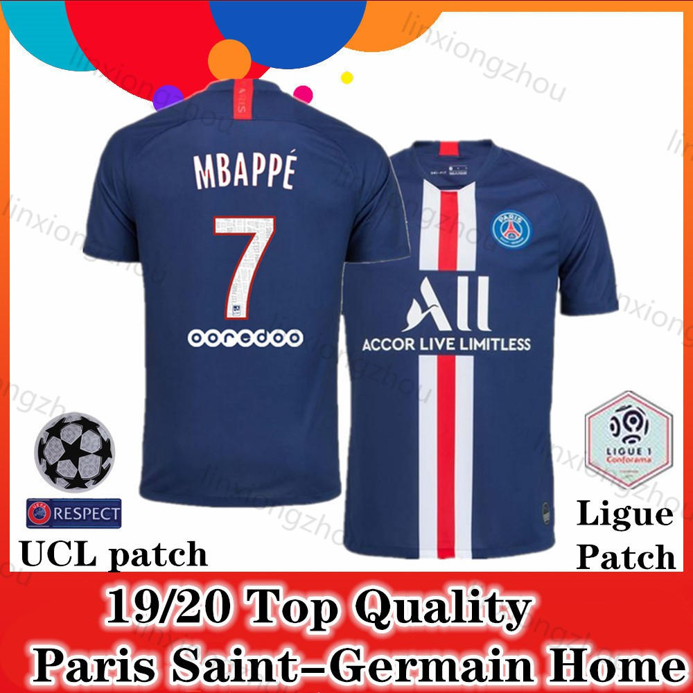 new arrival 6886e 9b908 Top Quality 19/20 and 18/19 Paris Saint-Germain Home Soccer Jersey Football  Jersey
