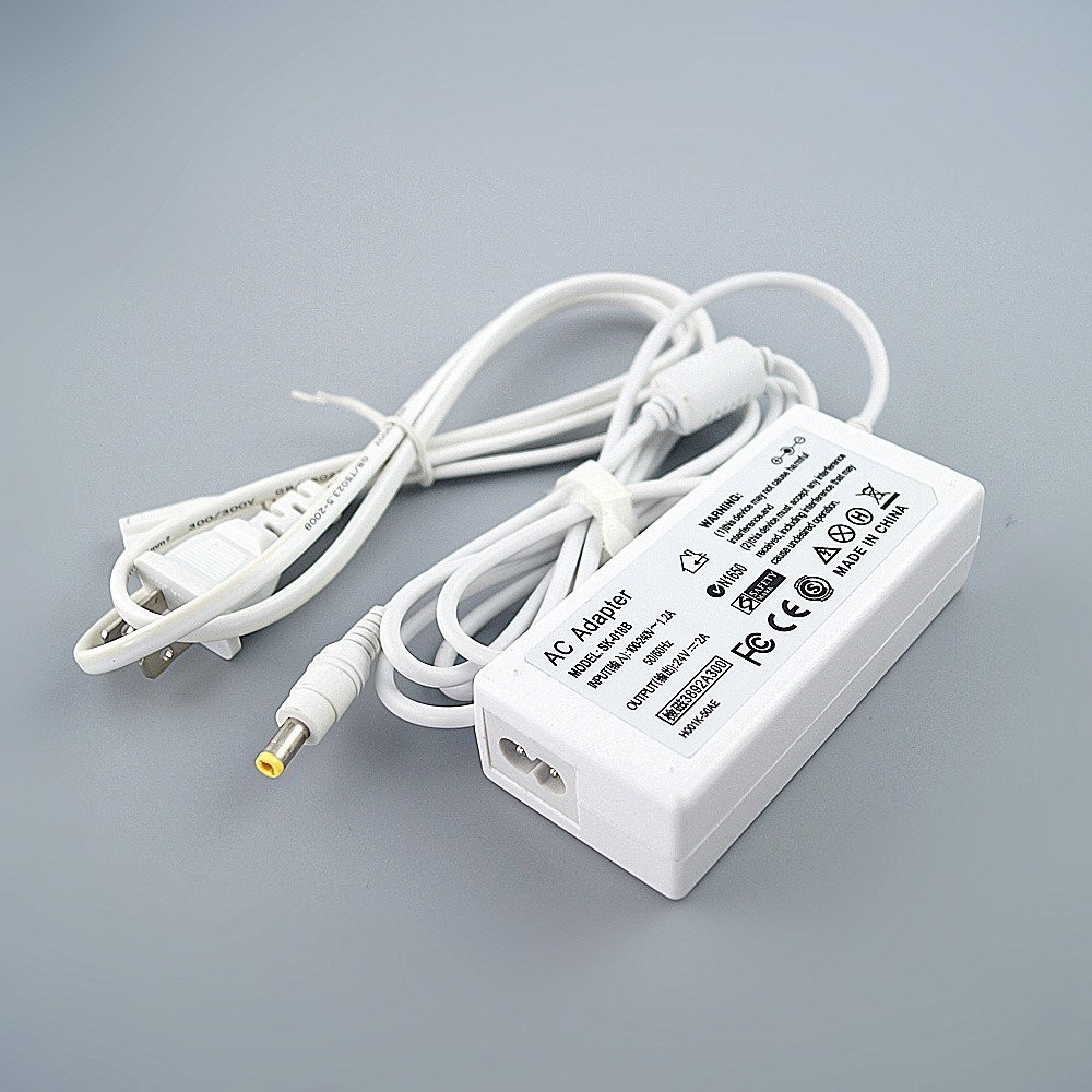24V 2A G25 Charger for Logitech Racing Wheel G27 G29 G920 G940, PS3 Xbox  360