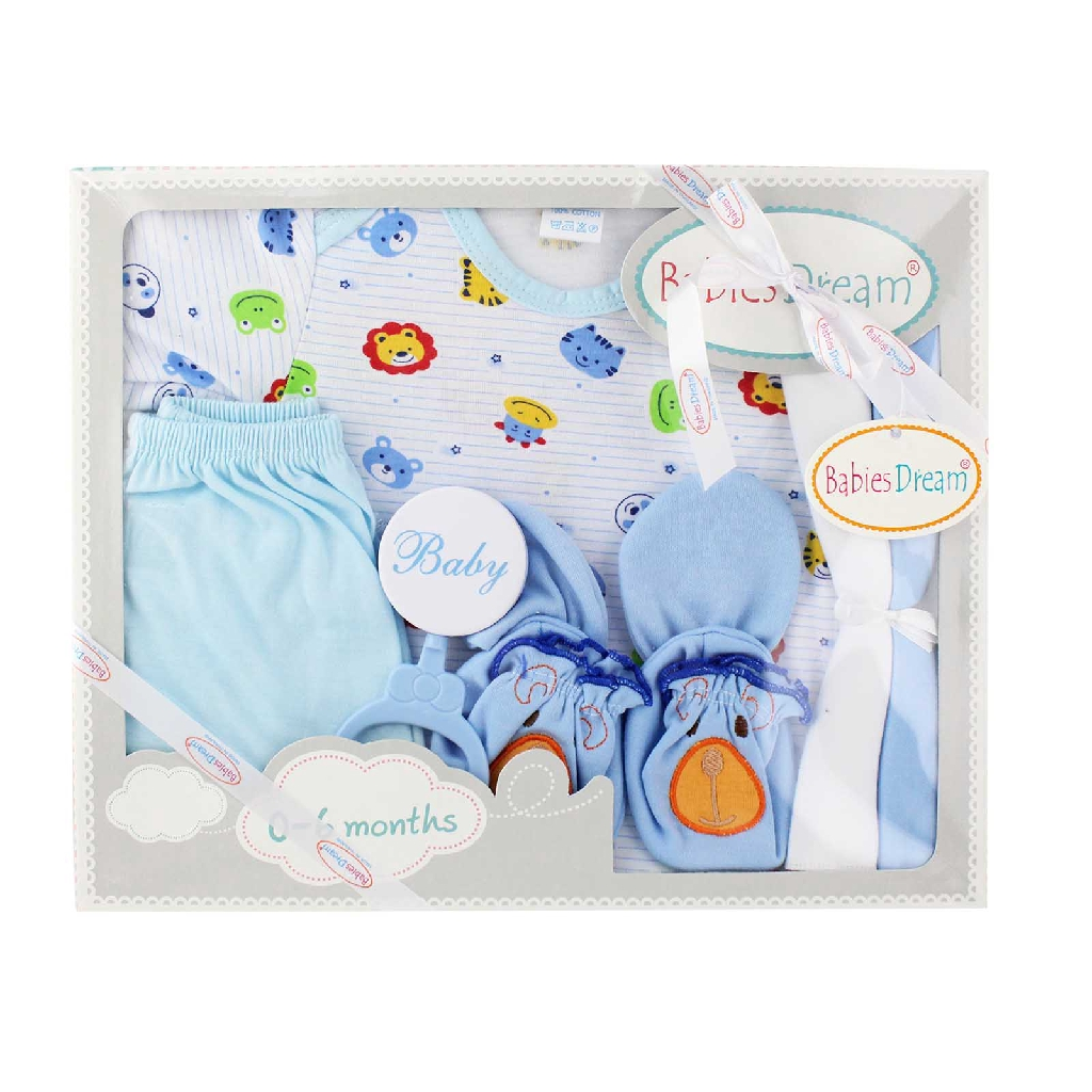 MYBB Baby Boy Gift Set 0-6 Month - Blue (7's) 0618BGXCD08A