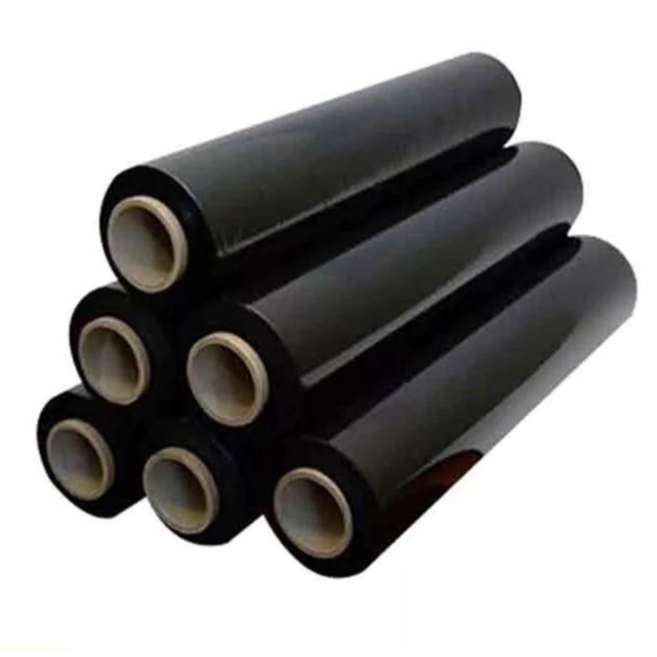 Stretch Film - 35 micron - Black - 500mm X 2.5KG ( core 0.2kg ) - Ready Stock