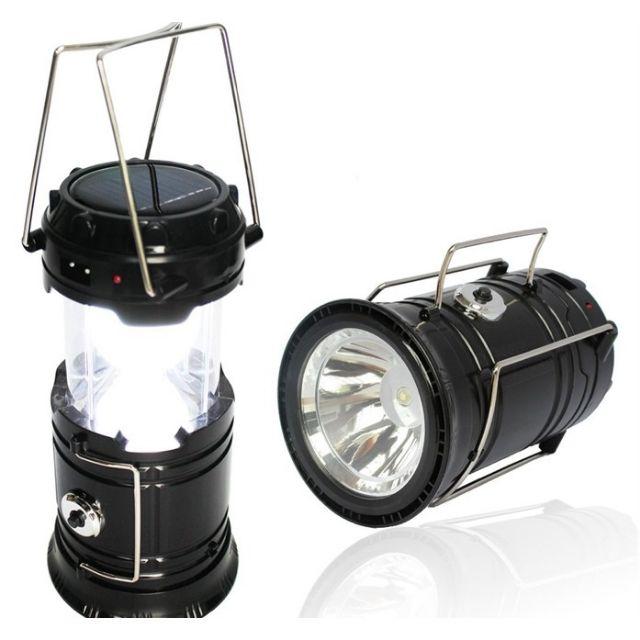 🔥M'SIA STOCK] IV 2 in 1 Solar Rechargeable Camping Lantern- Lampu Suluh Gantung