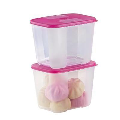 🔥READY STOCK🔥 Original Tupperware Freezermate  freezermSmall Set 250ml 650ml 1.0L - Dark Pink / Lipstick Lid FM
