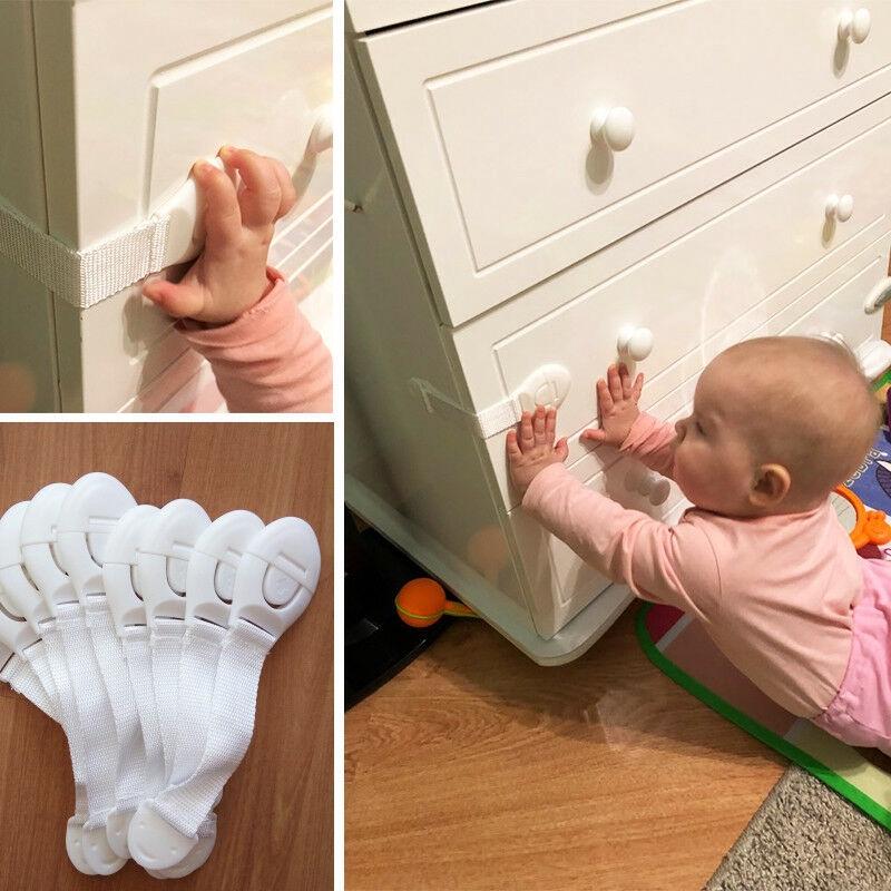 10X Baby Child Kid Box Drawer Cupboard Cabinet Wardrobe Door Fridge Safety Lock!