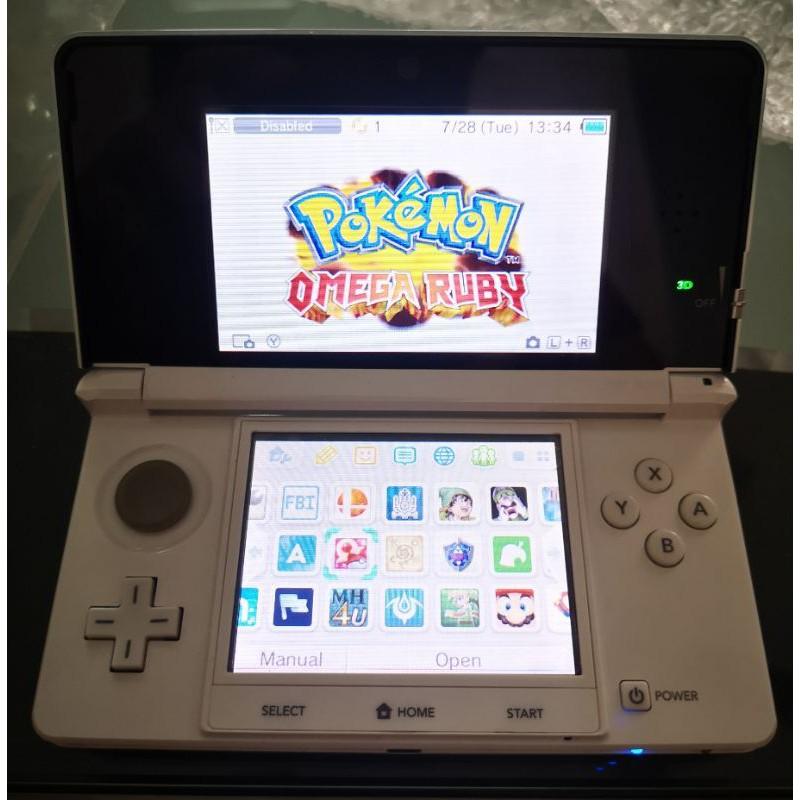 10% Cashback! Nintendo 3DS White Black With Pokemon Games Modded