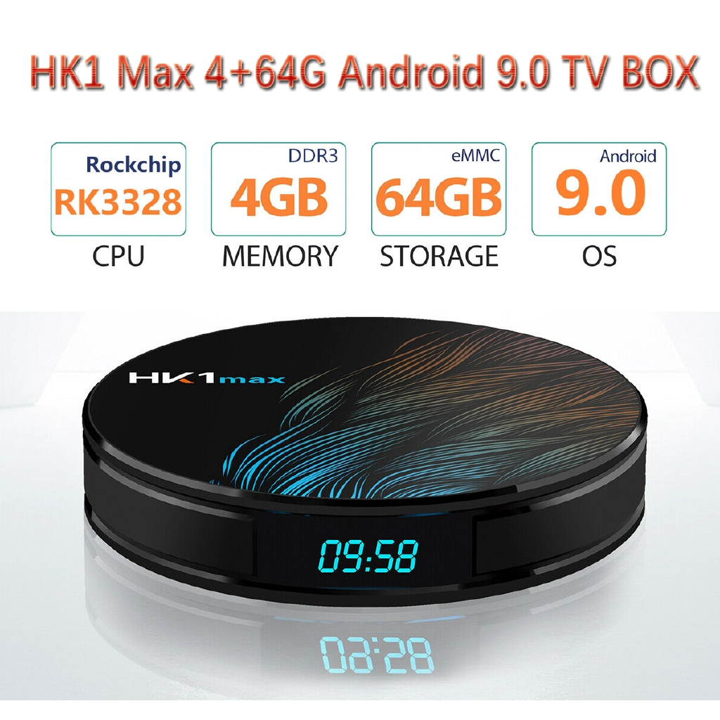 T95MAX 4+64G 6K Android 9.0 Pie Smart TV BOX Quad Core USB 3.0 MINI PC WIFI 3D