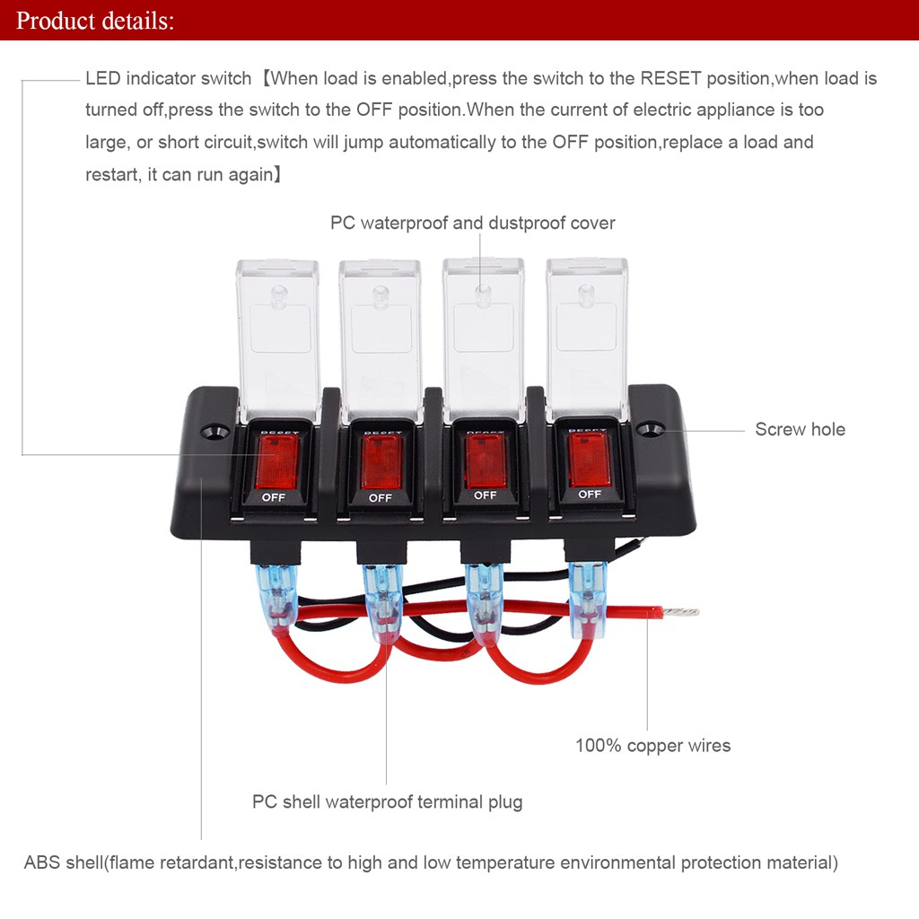 Panel Waterproof Led Switch Circuit Breaker With Fuse Shopee Malaysia Short Appliances