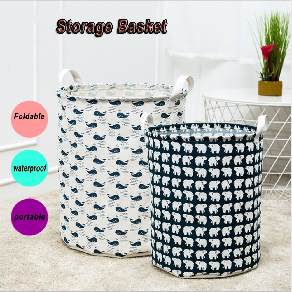 4fab089a7922 Laundry Storage Basket Linen Waterproof Folding Sundries Clothes Toy Storage