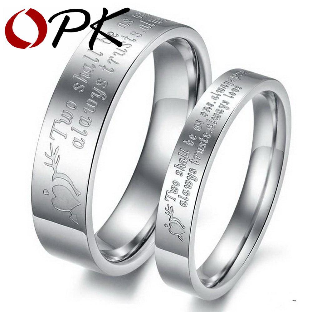 dc47642a4f OPK His And Hers Promise Ring Sets Couple Rings Lovers Design Engrave