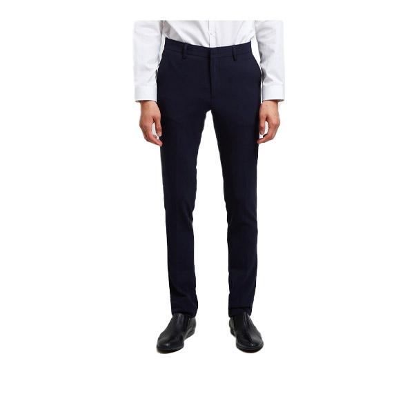 DAPPER กางเกงทำงาน Slim-Fit Stretch Trousers สีน้ำเงินเข้ม (508DM)