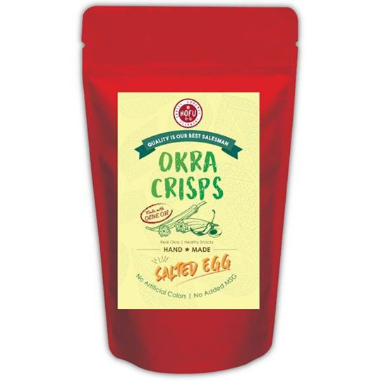 [Original] Hofu Salted Egg Okra Crisps Packet (60g) 黄金咸蛋秋葵脆片