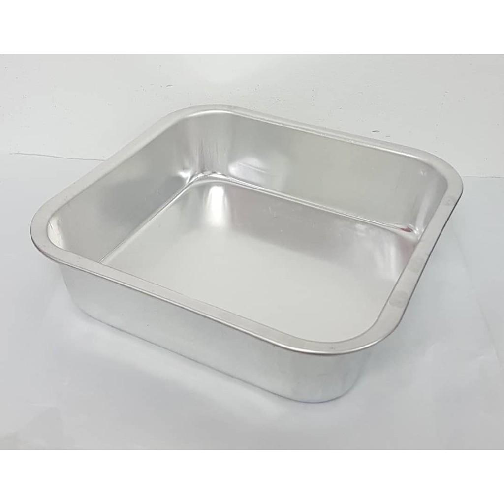 24cm Aluminium Square Deep Cake Tin