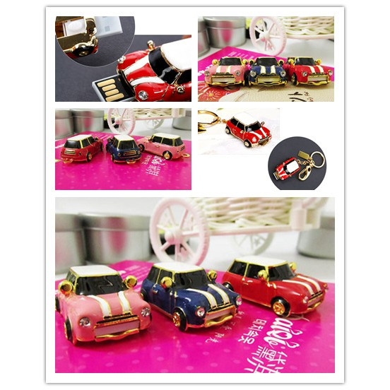 64GB Mini Cooper USB Flash Drive USB Flash Disk Pen Drive Memory Stick Pendrive