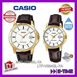 CASIO ORIGINAL MTP--V004GL-7A  LTP-V004GL-7A COUPLE MEN LADY ANALOG DATE  WATCH c4e7822955