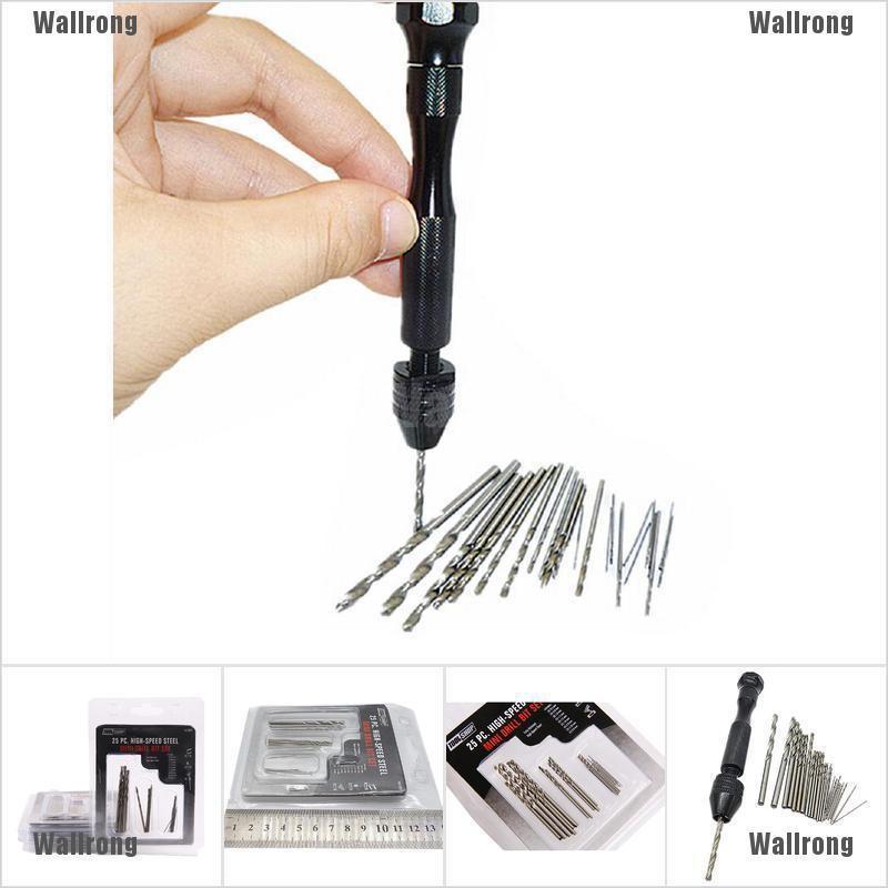 30PCS Mini Twist Bits 0.5mm-3mm Micro Drill Bits Set with Precision Hand Pin Vise Rotary Tools for DIY Model Craft Wood Jewelry