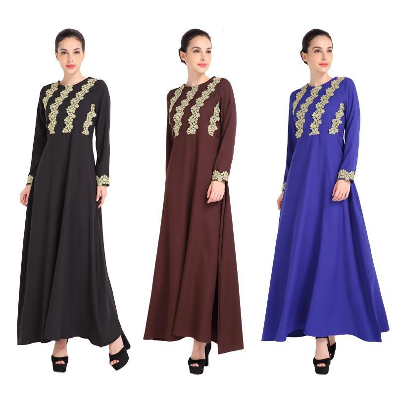 3d93c05aca Spot ebay AliExpress Muslim Long Sleeve Lace Spelling Receiving ...