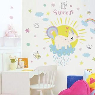 Cartoon Sticker Background Wall Painting In Children S Room Bedroom