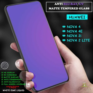 JIN Screen Protector 25 PCS AG Matte Anti Blue Light Full Cover Tempered Glass for Huawei Y9 Prime 2019