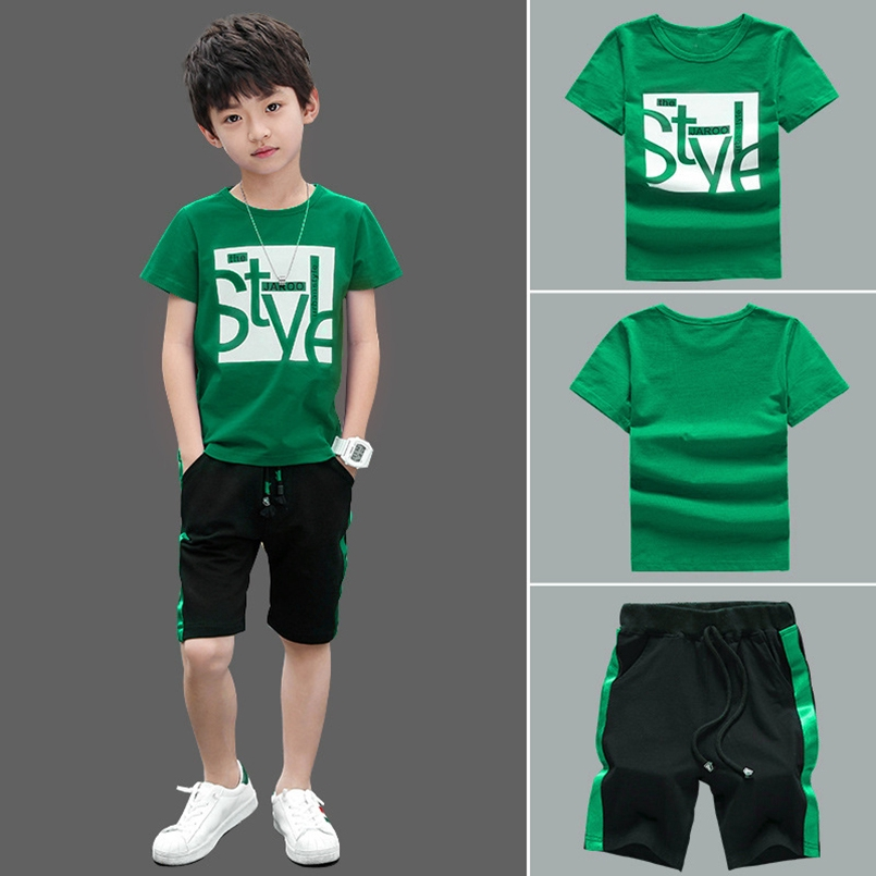 2020 Summer Boy Set Boys Short Sleeve T-Shirt shorts Pants Children Sports  Suit Kids Boy Clothes Sets | Shopee Malaysia
