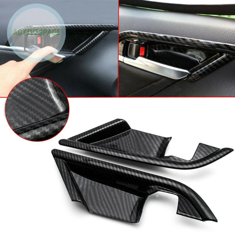 Carbon Fiber ABS Interior Door Handle bowl cover trim For Toyota Camry 2018 4PCS