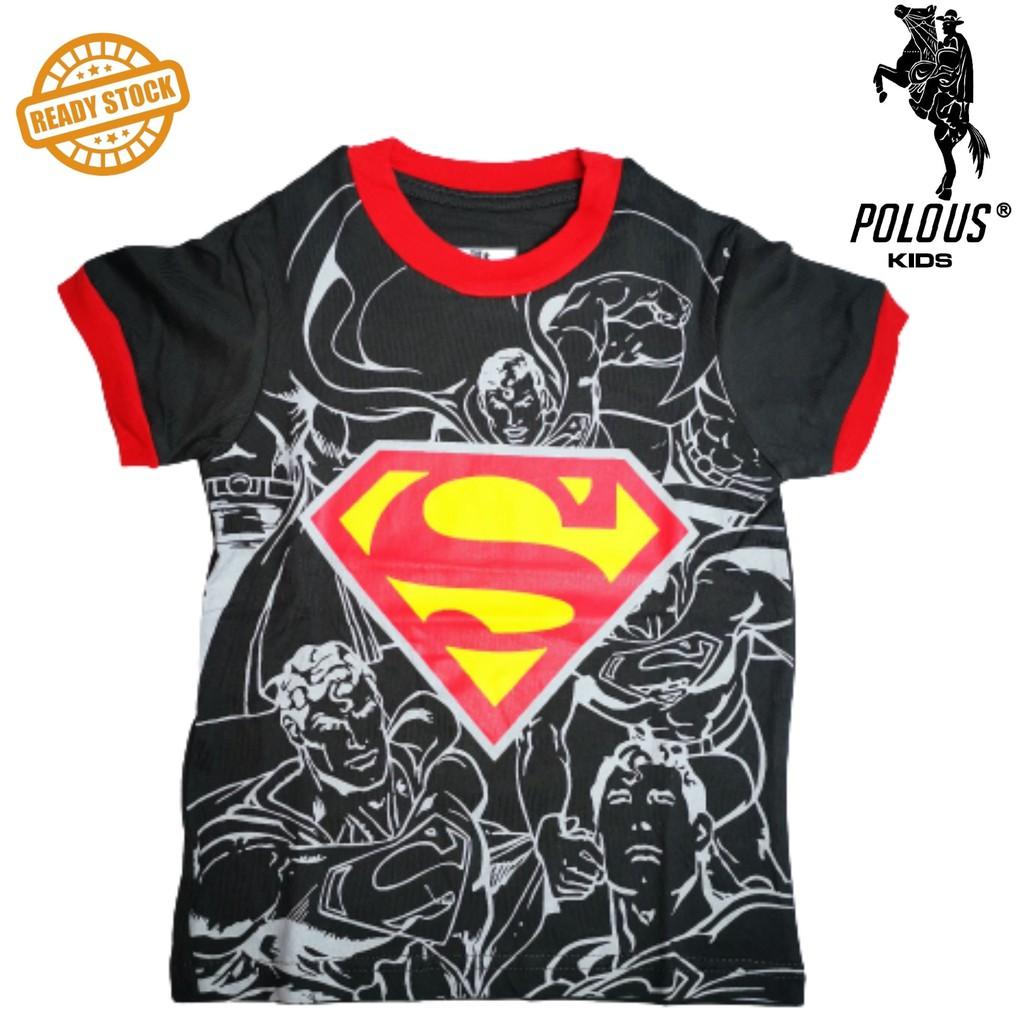POLOUS Boy Cotton Short Sleeve Round Neck Shirt 9002-SUPER S