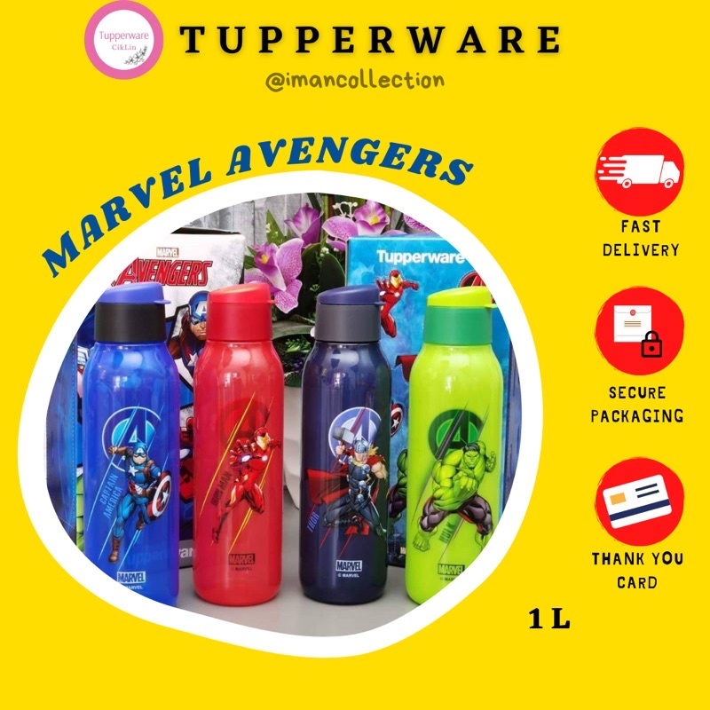 MARVEL AVENGERS ECO BOTTLE  TUPPERWARE/PCS