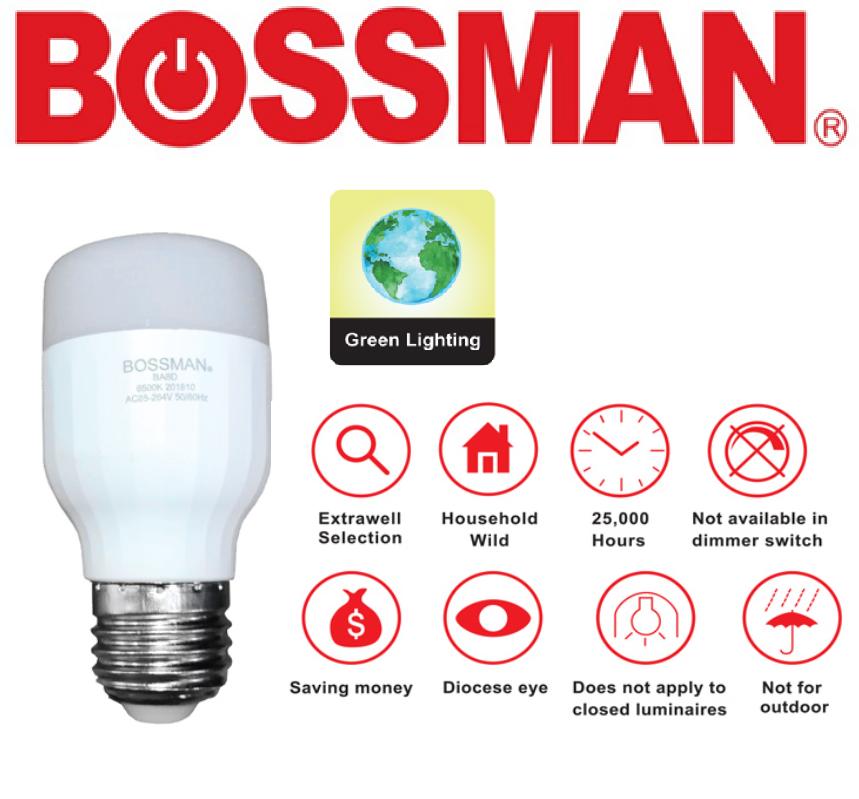 BOSSMAN LED LIGHT BULB LED ENERGY SAVING LIGHT BULB LAMPU