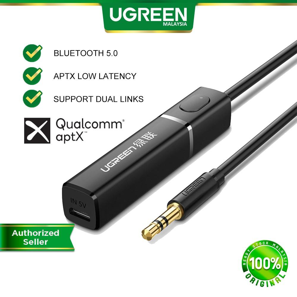 UGREEN Bluetooth Transmitter Bluetooth 5.0 Aux 3.5mm Wireless Audio Sender aptX Dual Link TV PS4 XBOX PC Speaker