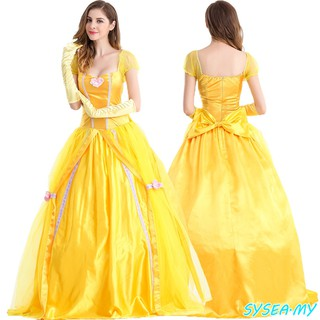 76c67b0f28b Adult Disney Beauty The Beast Princess Belle Enchanting Fancy Dress Costume