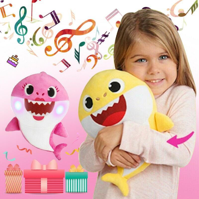 Soft Dolls Shark toy with Music Sound Cute Animal Plush Singing Dol