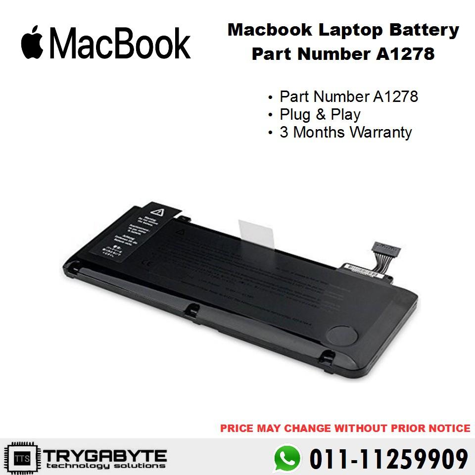 Apple Macbook Pro A1322 A1278 Mc700 Mc374 Mb990 Battery Shopee Baterai Original 13 Inchi Malaysia