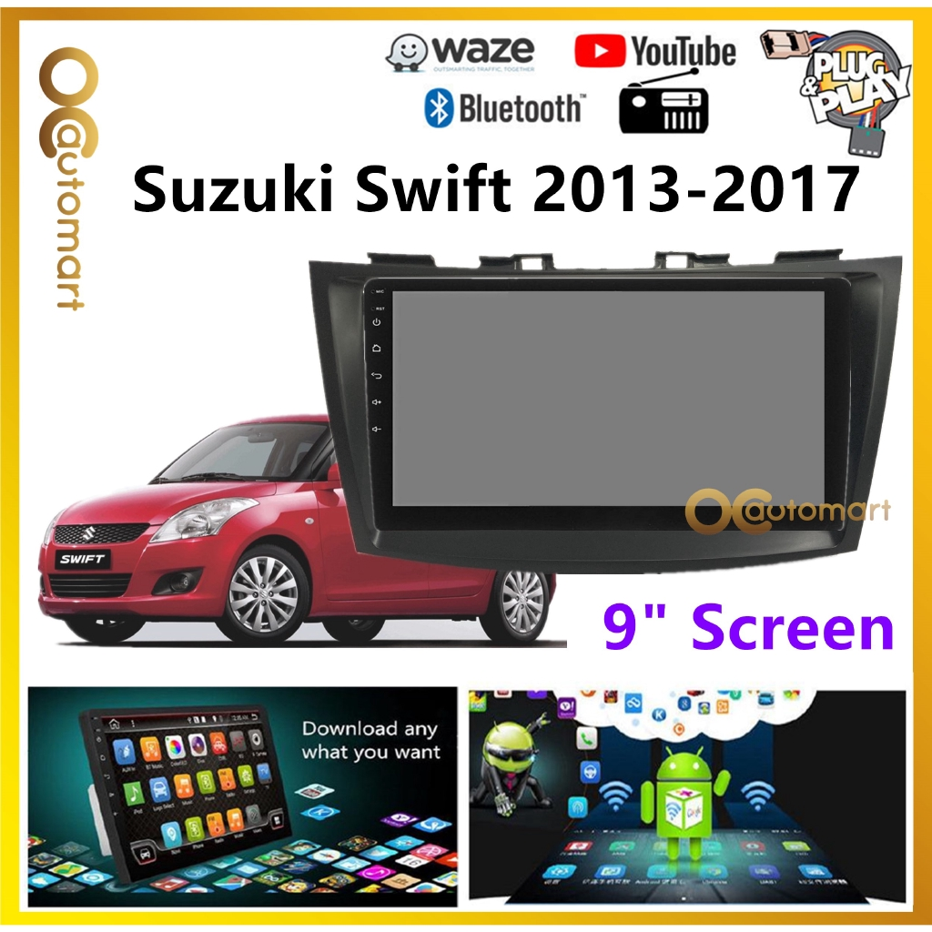 """Suzuki Swift 2012-2017 Big Screen 9"""" Plug and Play OEM Android Player Car Stereo With WIFI Video Player/TouchScreen"""