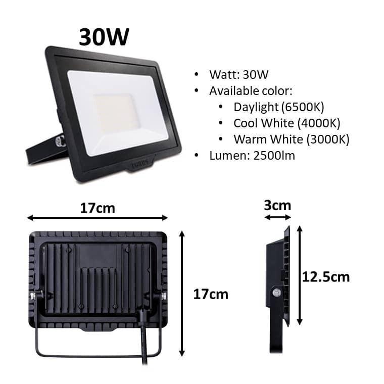 High quality - Philips LED Flood Light Essential Smart Bright BVP150 10w 20w 30w 50w Spotlight Floodlight Flood light