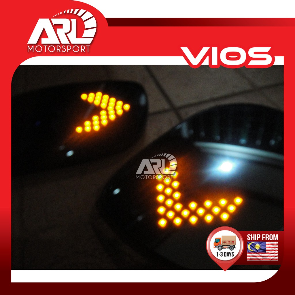 Toyota Vios (2007-2012) NCP93 Side Mirror Blue Mirror With LED Signal Car Auto Acccessories ARL Motorsport