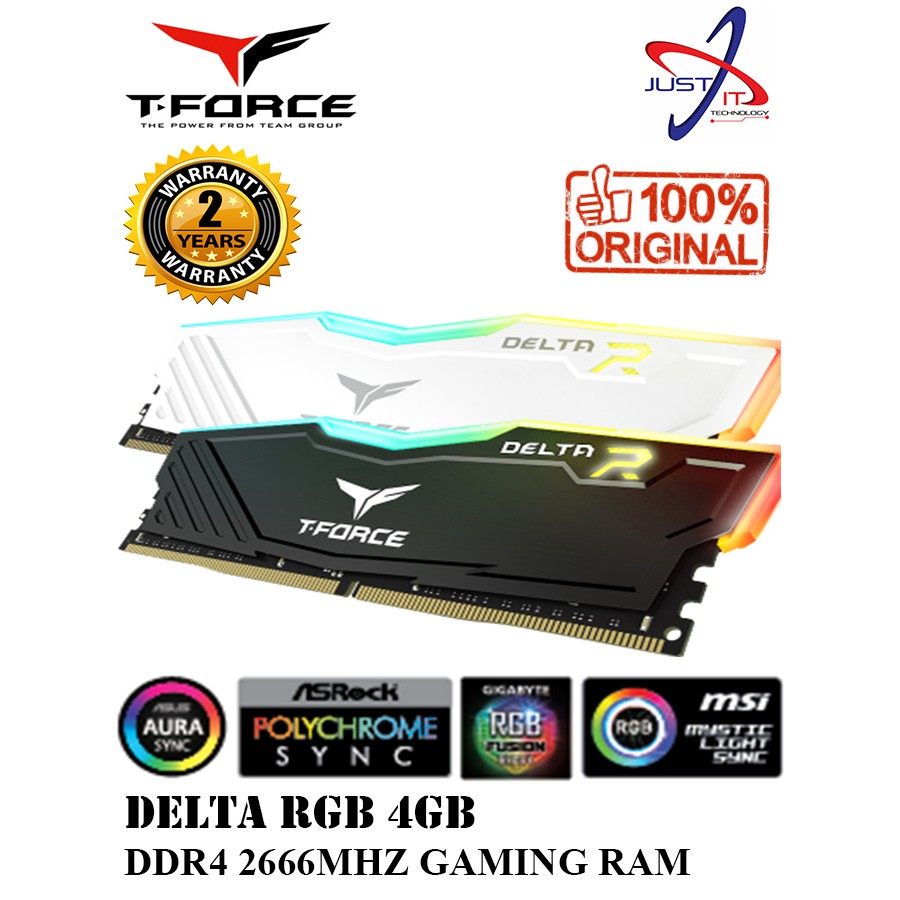 TEAM FORCE DELTA 4GB DDR4 2666MHZ RGB UD