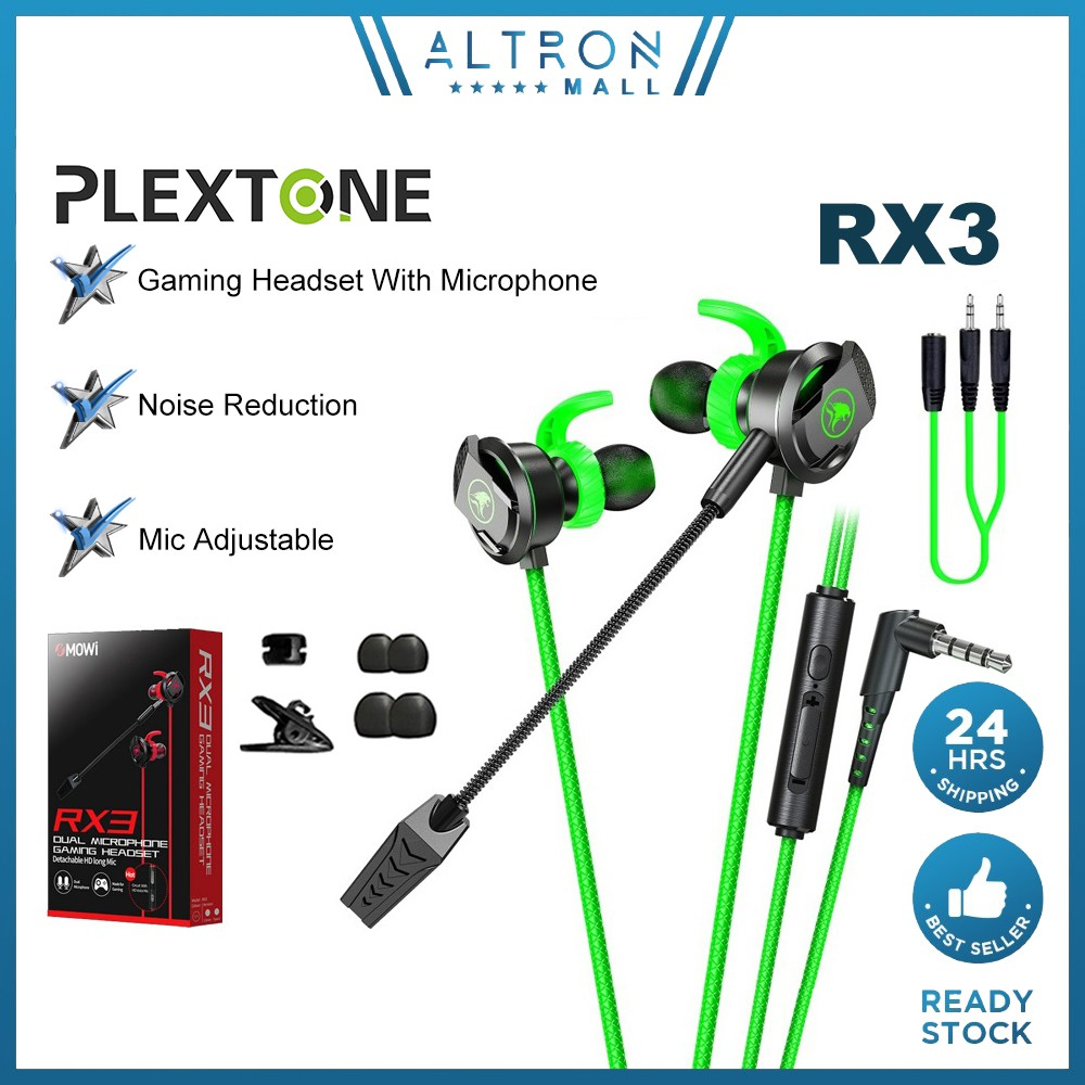 PLEXTONE XMOWI RX3 RX1 Gaming Earphone Headphone Dual Microphone and 3D Stereo Sound Tablet PC Laptop Smartphone