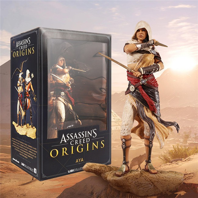 Assassin S Creed Origins Aya Game Around Hand Model Statue