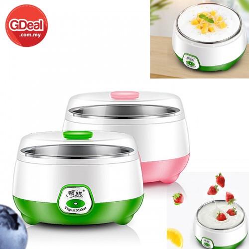 1L Electric Automatic Yogurt Maker Machine Yoghurt DIY Tool Stainless Steel