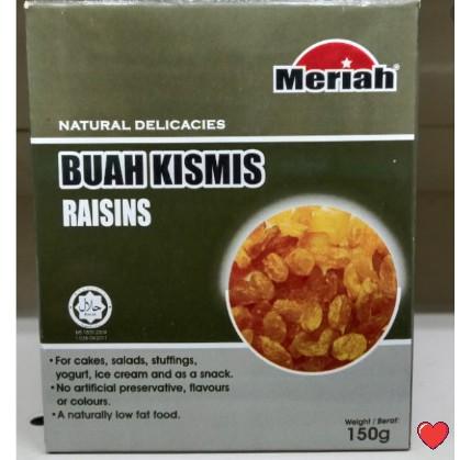 Meriah Natural Delicacies Raisins / Buah Kismis 150g ( Free fragile + bubblewrap packing )