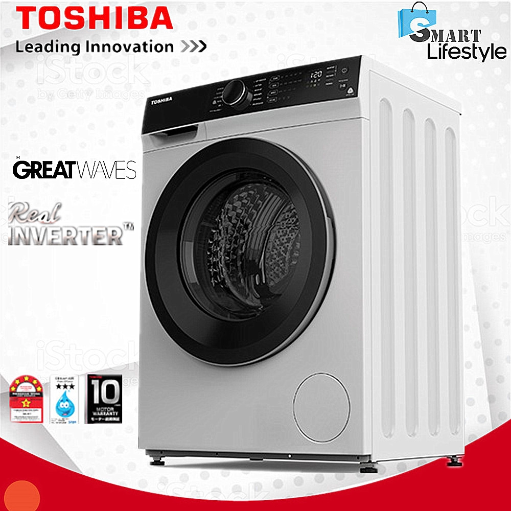 Toshiba 9.5KG FRONT LOAD REAL INVERTER WASHER TW-BH105M4M