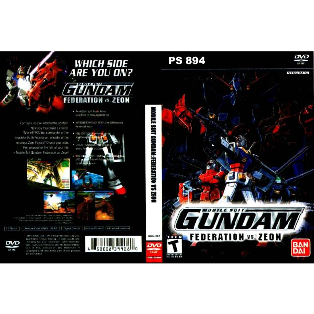 PS2 Games CD Collection Mobile Suit Gundam Federation VS Zeon