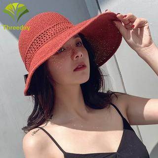 130ad0b42 Spring Summer Visors Cap Foldable Wide Large Edges Beach Sun Hat ...