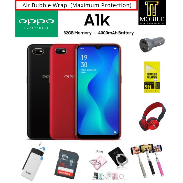 Oppo A1K (2+32GB) Original Malaysia Set with free gift-