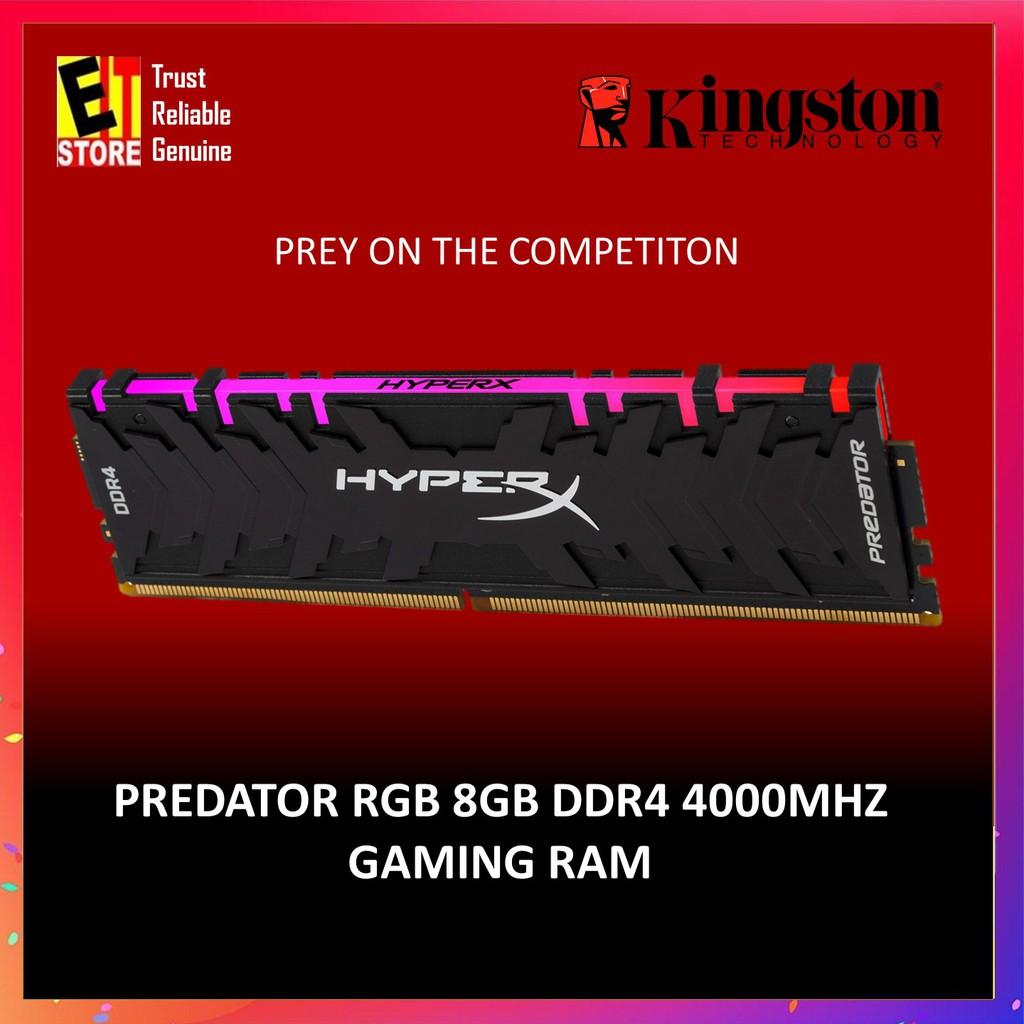 HYPERX PREDATOR RGB 8GB DDR4 3200MHz GAMING CL16 288-Pin DIMM  (HX432C16PB3A/8)